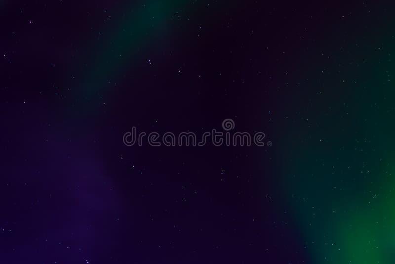 Северное сияние, северное сияние в ночном небе со звездами стоковое изображение rf