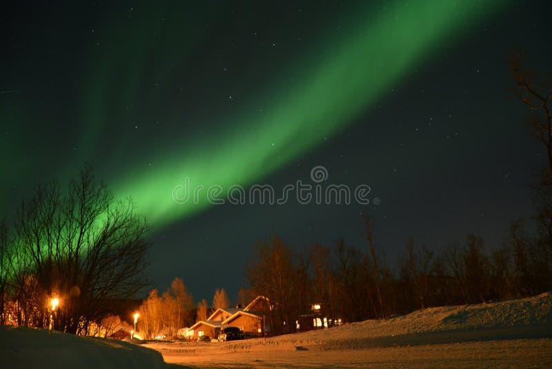 Северное сияние в Tromsø стоковые изображения