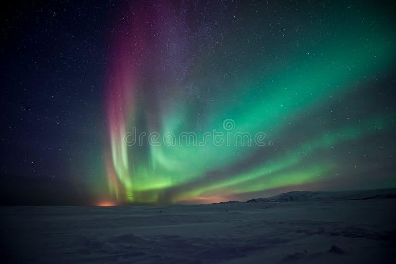Северное сияние северного сияния стоковая фотография