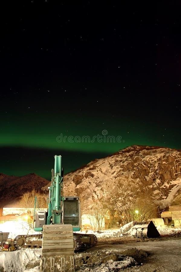 Северное сияние (северное сияние) и серии звезд вокруг c стоковые фотографии rf