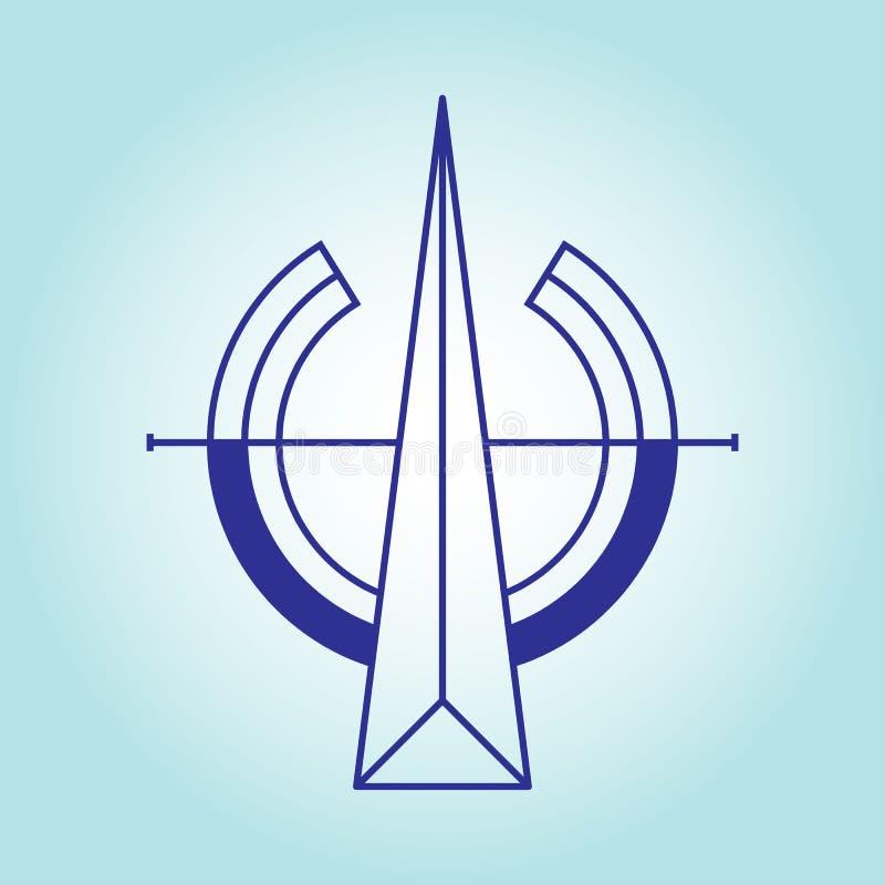 Северные направление и ориентация на сторонах мира на свете - голубая предпосылка Дизайн вектора плоский иллюстрация вектора