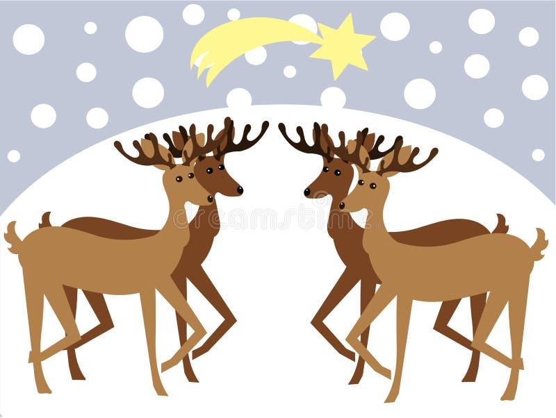 северные олени иллюстрация штока