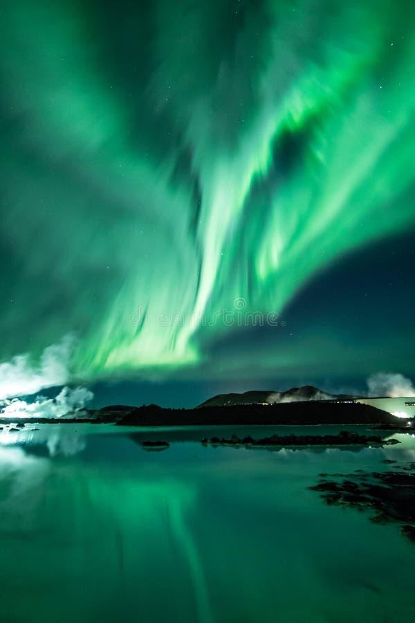 Северные света стоковое изображение