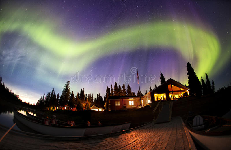 Северные света стоковая фотография