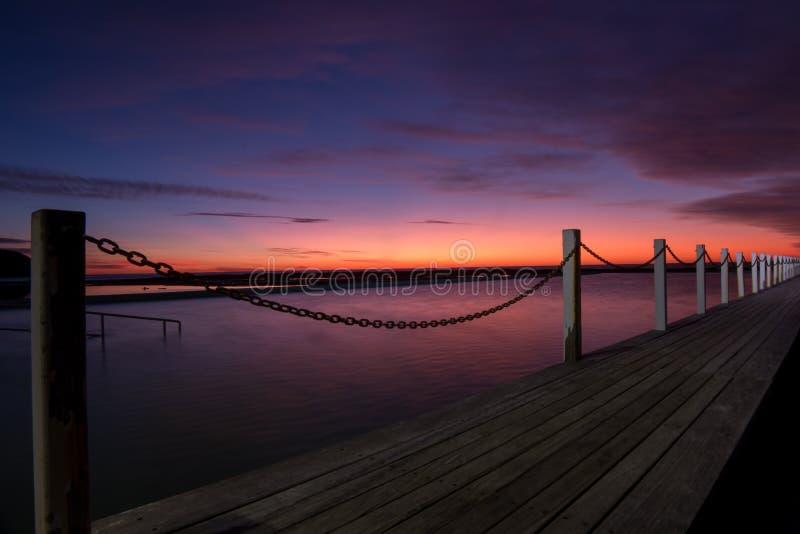 Северный бассейн океана Narrabeen стоковая фотография rf