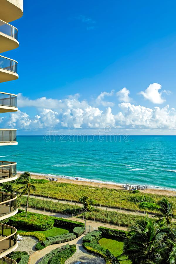 Северный взгляд гостиницы Miami Beach стоковые фотографии rf