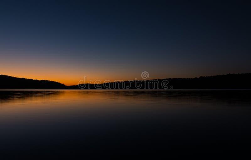 Северный заход солнца стоковое фото rf