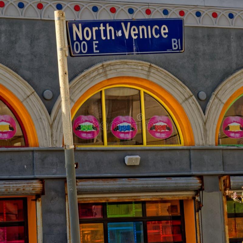 Северный знак Венеции стоковое изображение rf