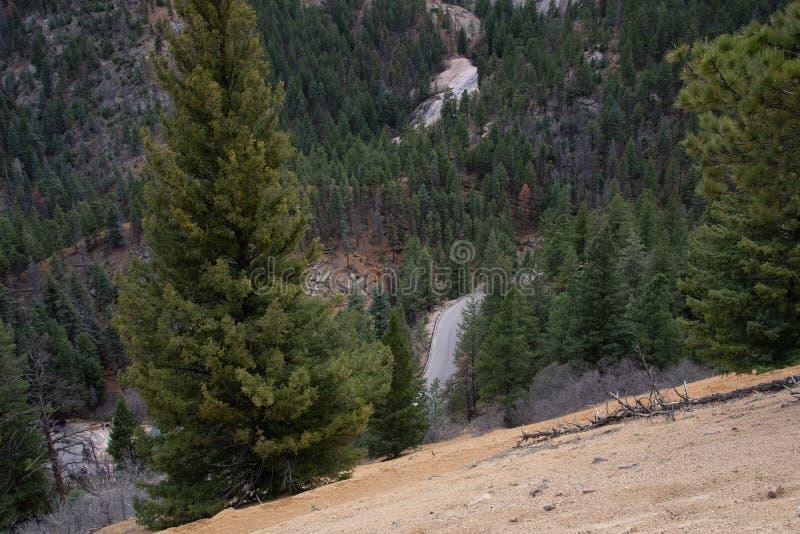 Северный канон Колорадо-Спрингс каньона Шайенна стоковое фото rf
