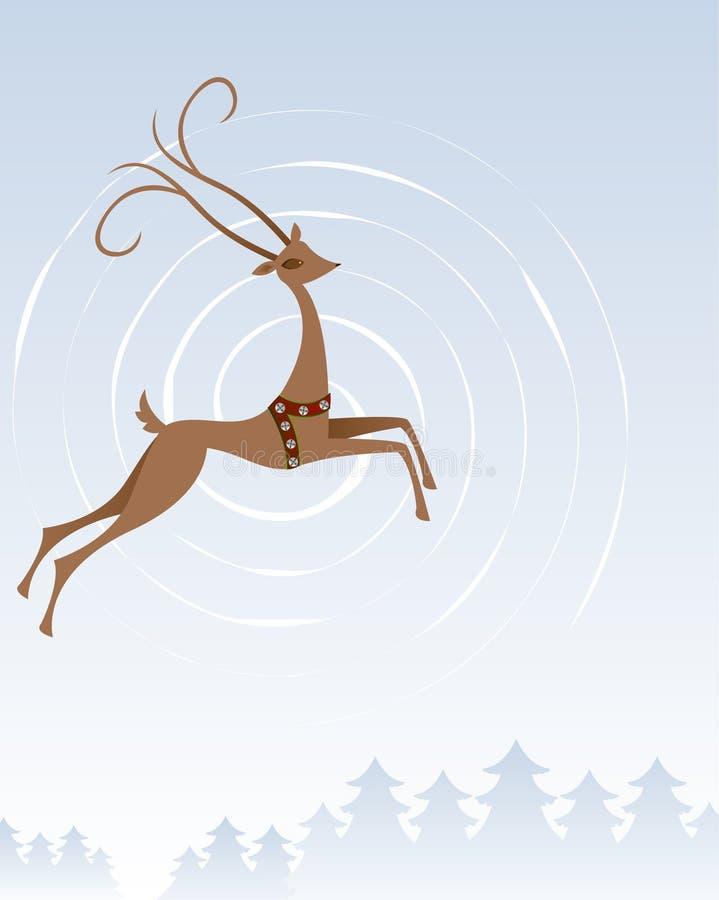 северный олень полета бесплатная иллюстрация