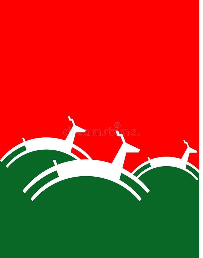 северный олень рождества предпосылки иллюстрация штока