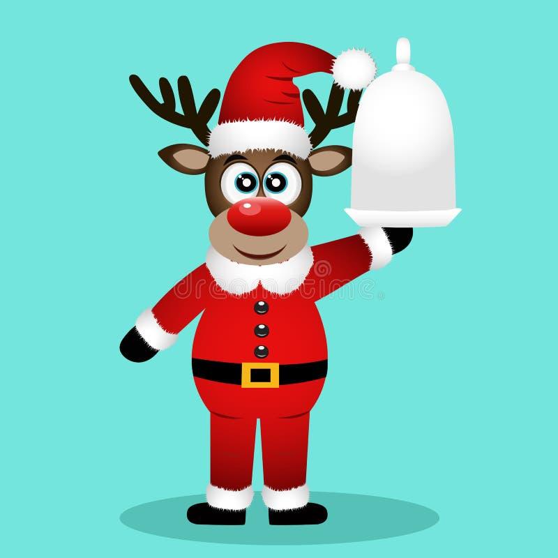 Северный олень рождества рождество украшает идеи обеда свежие домашние к иллюстрация вектора
