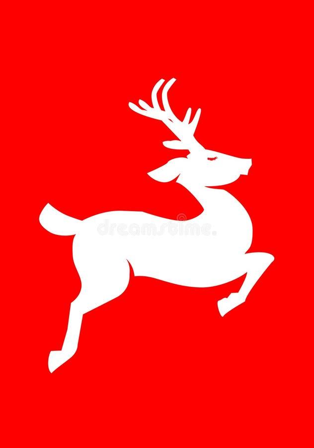 северный олень рождества иллюстрация вектора