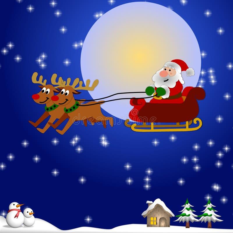 Download северный олень santa иллюстрация штока. иллюстрации насчитывающей бело - 6860949