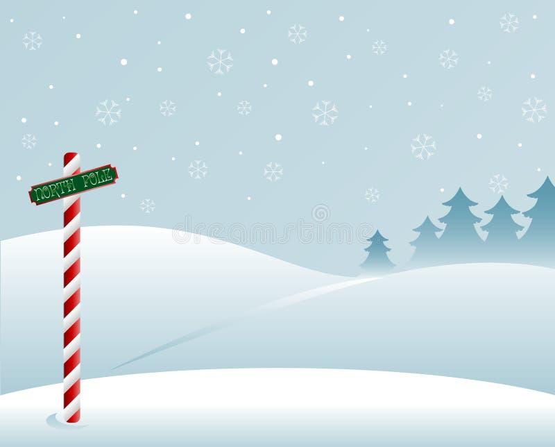 Северный полюс бесплатная иллюстрация