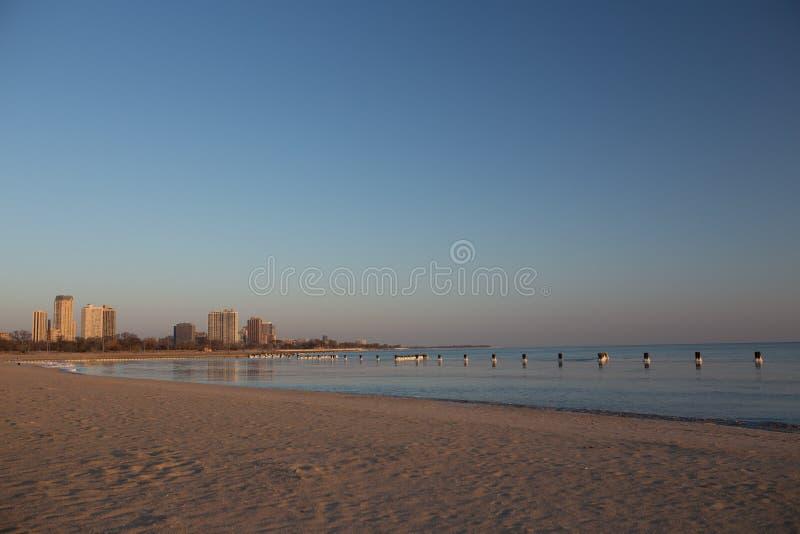Северный пляж Чикаго бульвара стоковые фото