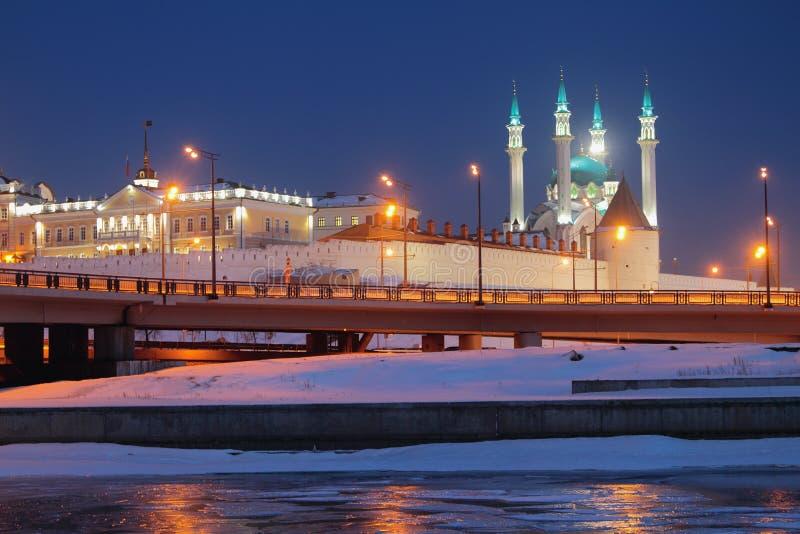 Северный случай двора оружия и мечети Qol Sharif kazan Россия стоковое фото
