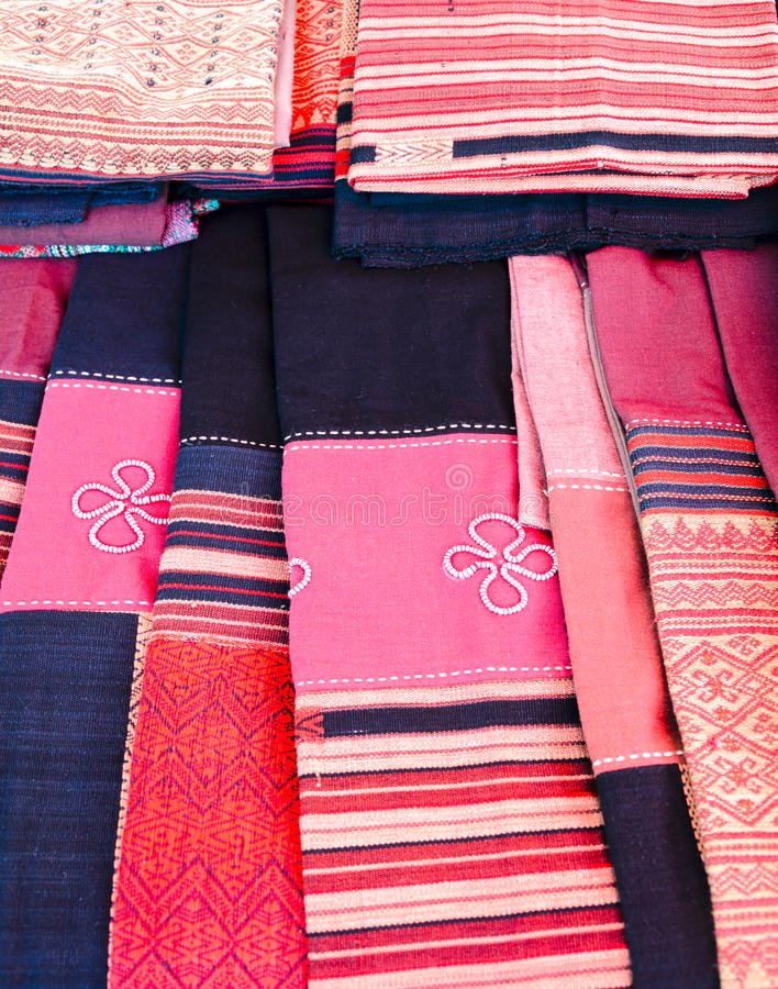 Северный тайский шелк стоковое фото