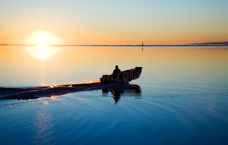 северо-западный Тихий океан заход солнца стоковое фото