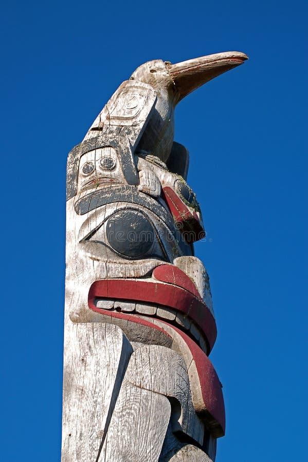северо-западный Тихий океан totem полюса стоковое фото rf