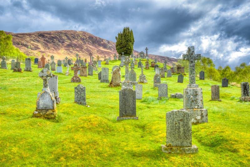 Северо-запад Шотландии кладбища стоковые фотографии rf