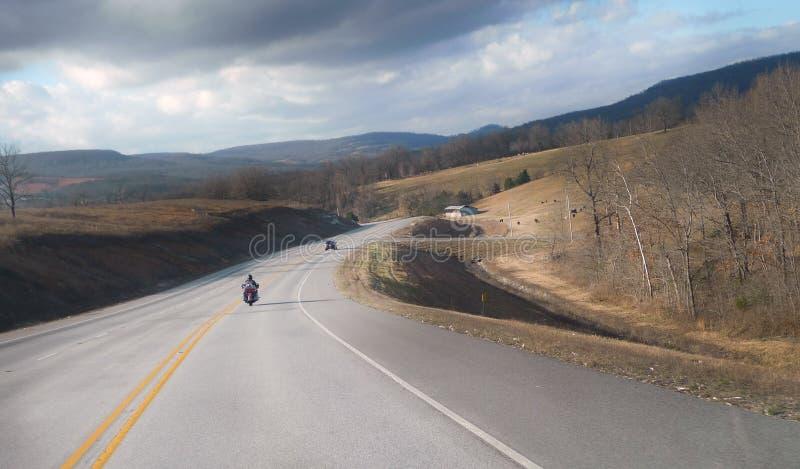 Северо-западное шоссе горы Арканзаса Ozark стоковые изображения rf