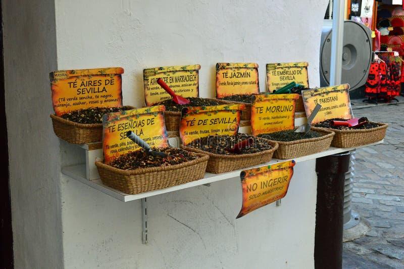 Севилья - чая лист для продажи стоковое фото rf