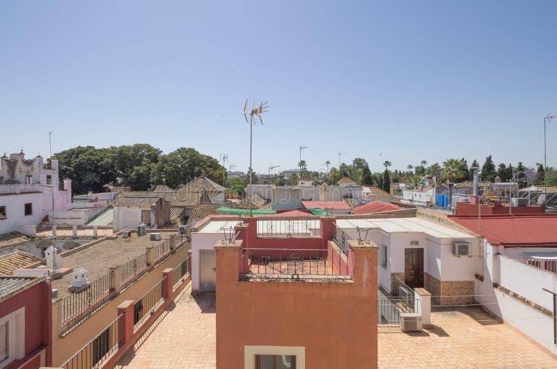 Севилья от крыши стоковые фото