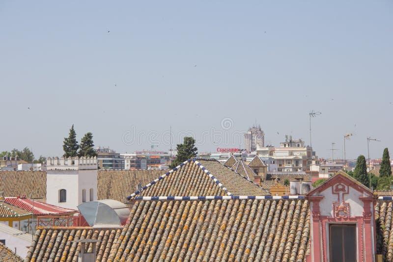 Севилья от крыши стоковые изображения