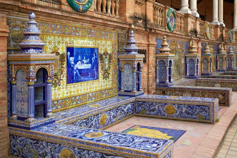 Севилья Севилья Площадь de Espana Андалусия Испания стоковое фото