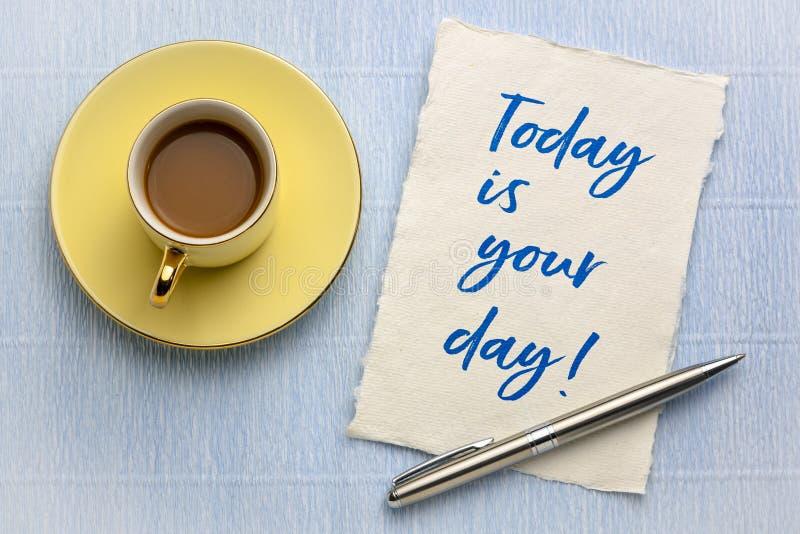 Сегодня ваш почерк дня жизнерадостный стоковое фото