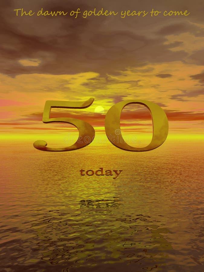 50 сегодня иллюстрация вектора