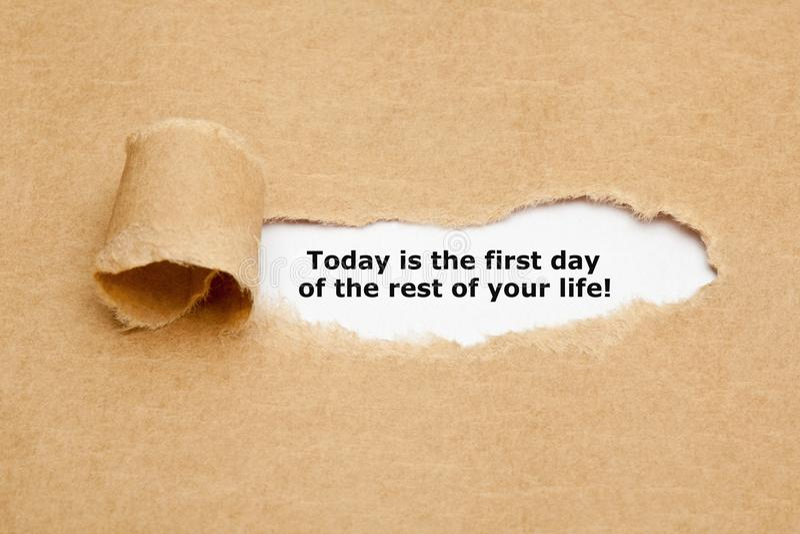 Сегодня первый день вся оставшаяся жизнь стоковая фотография