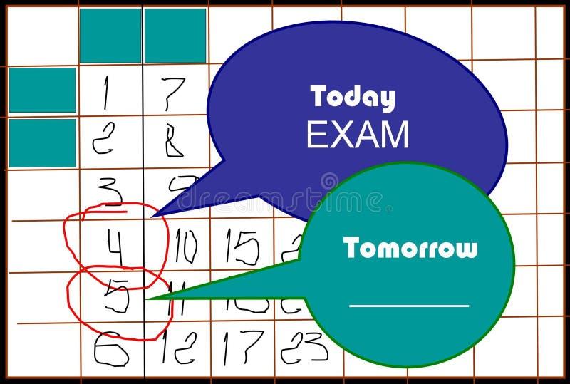 Сегодня, завтра иллюстрация вектора
