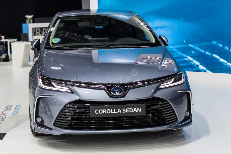 Седан Toyota Corolla на автомобиле Барселоне 2019 стоковые фото