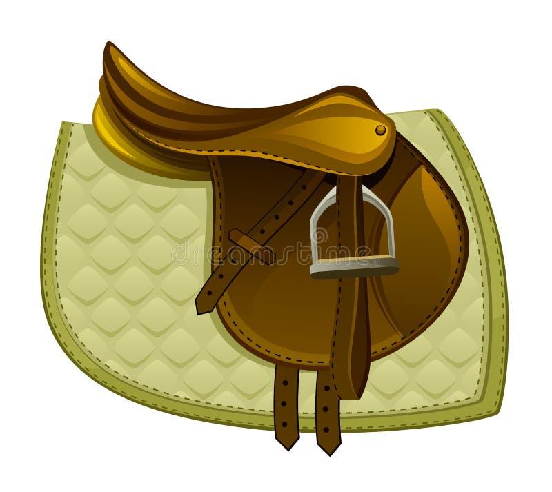 Седловина лошади Брайна с одеялом иллюстрация штока