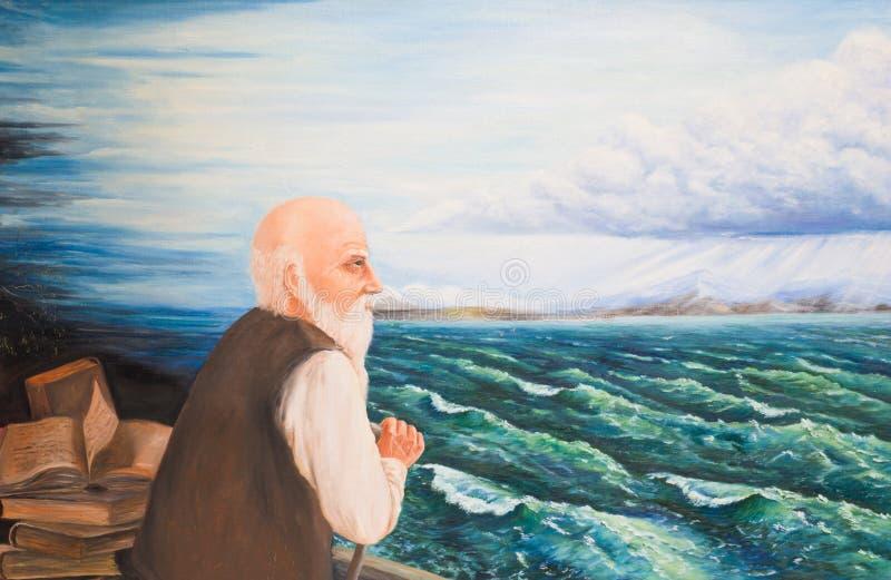 Седой бородатый старик бесплатная иллюстрация