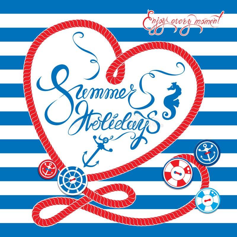 Сезонная карточка с рамкой в форме сердца на нашивке краски голубой и иллюстрация штока