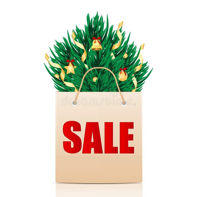 Download Сезонная продажа рождества иллюстрация вектора. иллюстрации насчитывающей подарки - 33730270