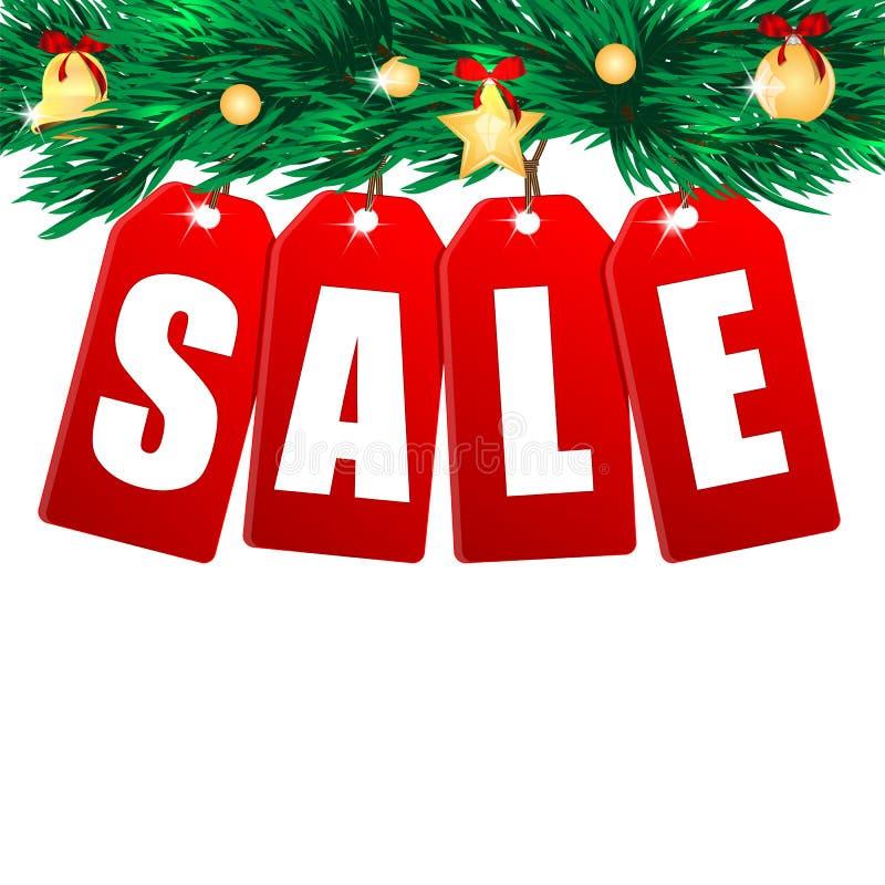 Download Сезонная продажа рождества иллюстрация вектора. иллюстрации насчитывающей сосенка - 33730468