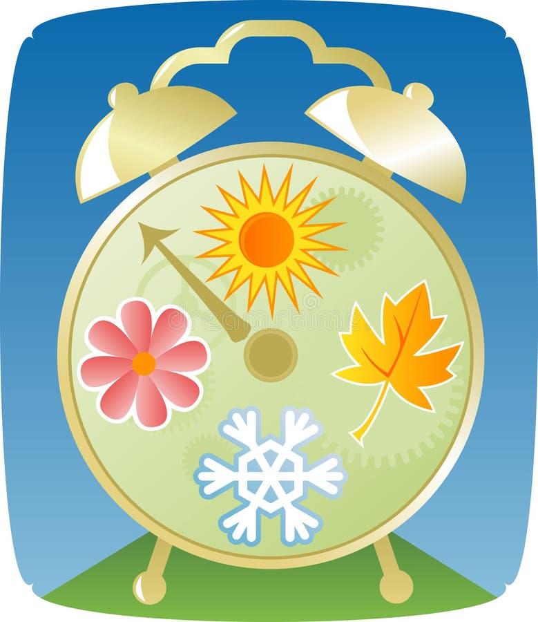 сезоны часов иллюстрация вектора