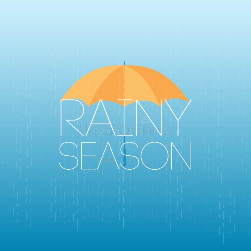 Сезон дождей апрель поливает иллюстрацию дизайна шаблона вектора цве бесплатная иллюстрация