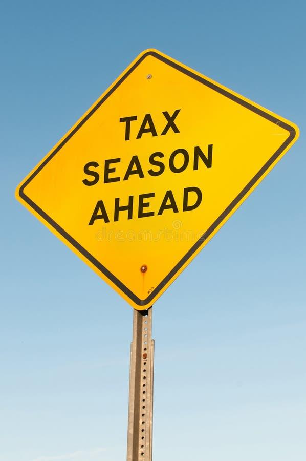 Сезон налога вперед стоковое изображение rf