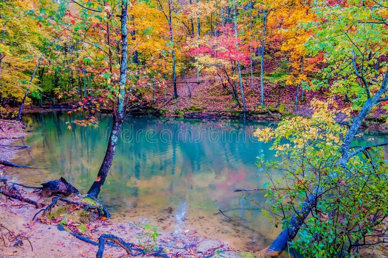 Сезон осени на озере стоковое фото rf