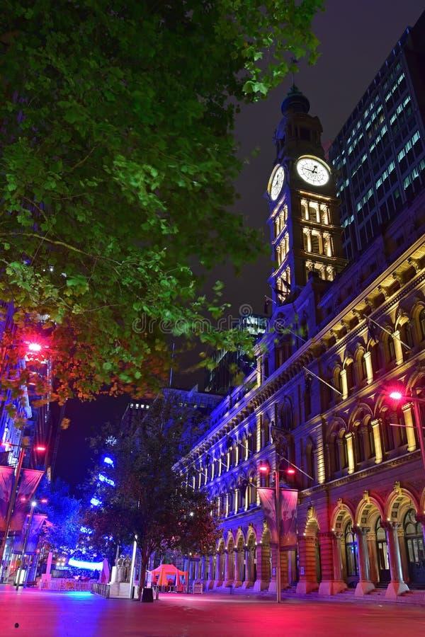 Сезон рождества на месте Мартина, Сиднее, Австралии стоковые изображения rf