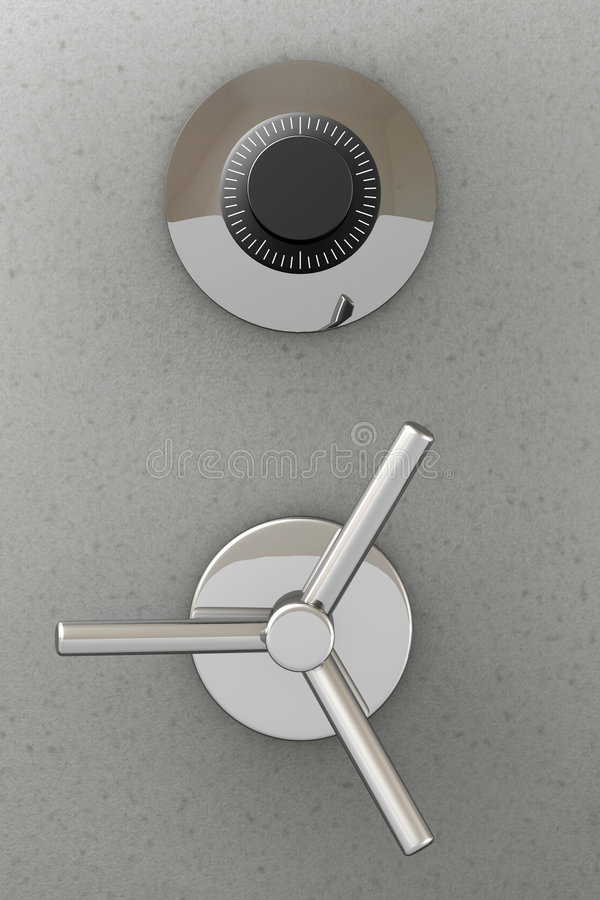 сейф двери банка иллюстрация вектора