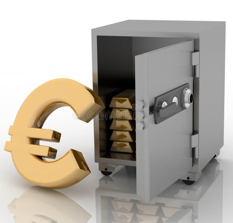 сейф евро бесплатная иллюстрация