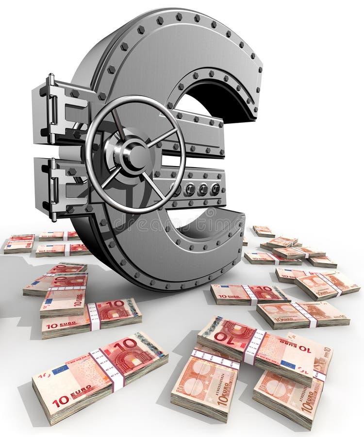 сейф евро иллюстрация вектора