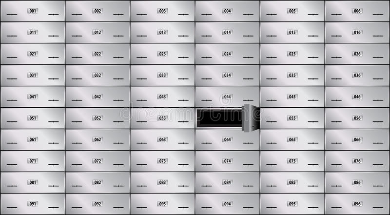 сейф залеми коробки бесплатная иллюстрация