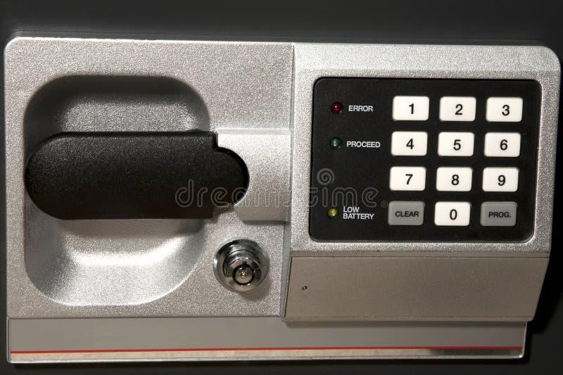 сейф кнопочной панели стоковое фото rf